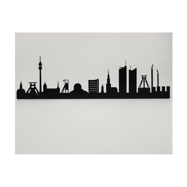 Ruhrpott Skyline aus Metall mit Zechen, Sternwarte Bochum