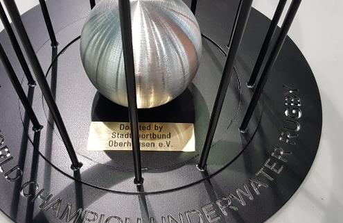 Pokal Unterwasser Rubgy Oberhausen Weltmeisterschaft Stadtsportbund