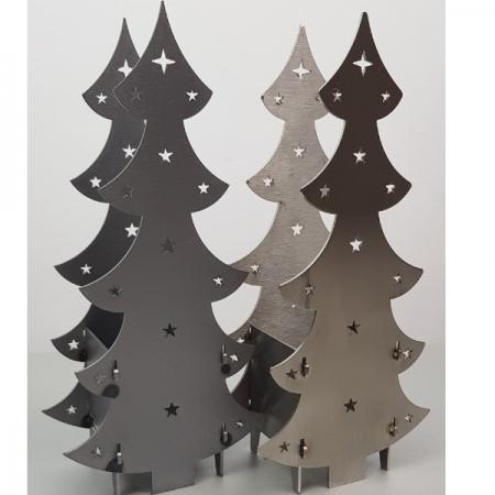 Weihnachtsbaum Edelstahl für Teelicht