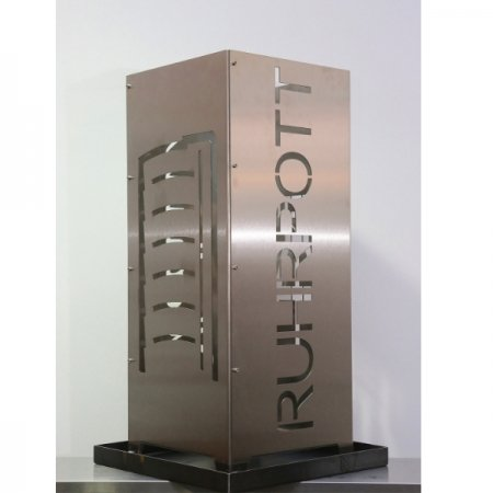 Feuersäule aus Metall Gasometer Ruhrpott Edelstahl