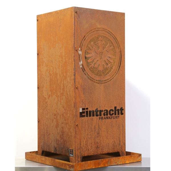Eintracht Frankfurt Feuersäule Aus Edelrost Made Of Steel