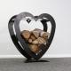 Holzstapler aus Metall Motiv Herz