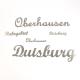 Duisburg Schriftzug aus Edelstahl klein