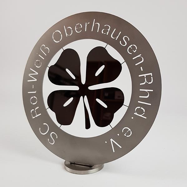RWO Logo zum Aufstellen Edelstahl