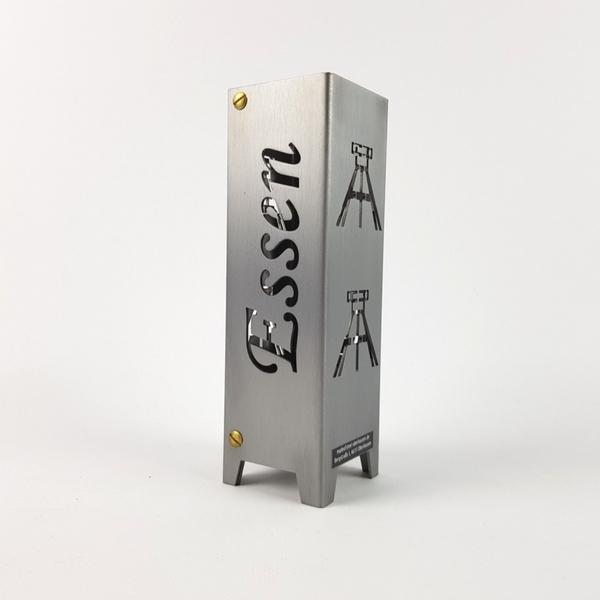 Ruhrpott Licht aus Metall für Teelicht Essen + Förderturm auf 50 x 50 x 150 mm