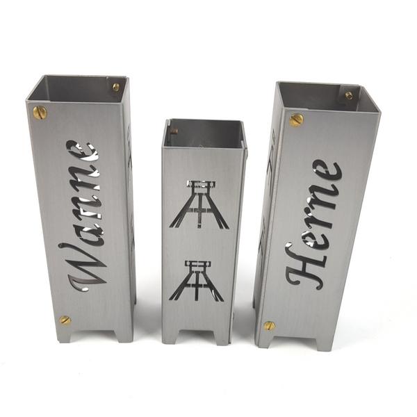 Ruhrpott Licht aus Metall für Teelicht Herne + Wanne + Förderturm auf 50 x 50 x 150 mm