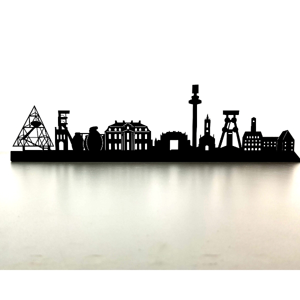 Bottrop Skyline aus Metall 600 x 154 x 21 mm
