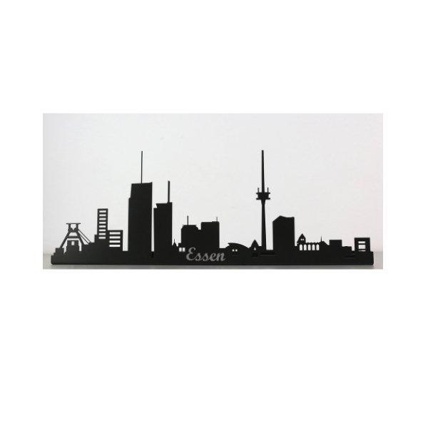 Essen Skyline aus Metall 570 x 200 x 21 mm