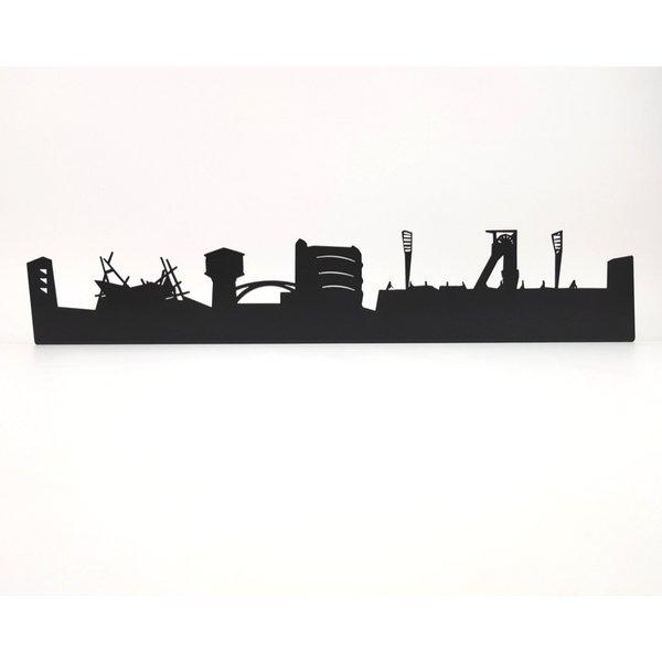 Oberhausen Skyline aus Metall 560 x 100 x 21 mm ohne Schriftzug