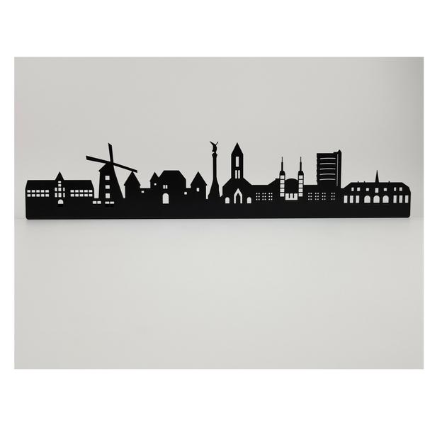 Oberhausen Skyline aus Metall Oberhausen-2 560 x 100 x 21 mm ohne Schriftzug
