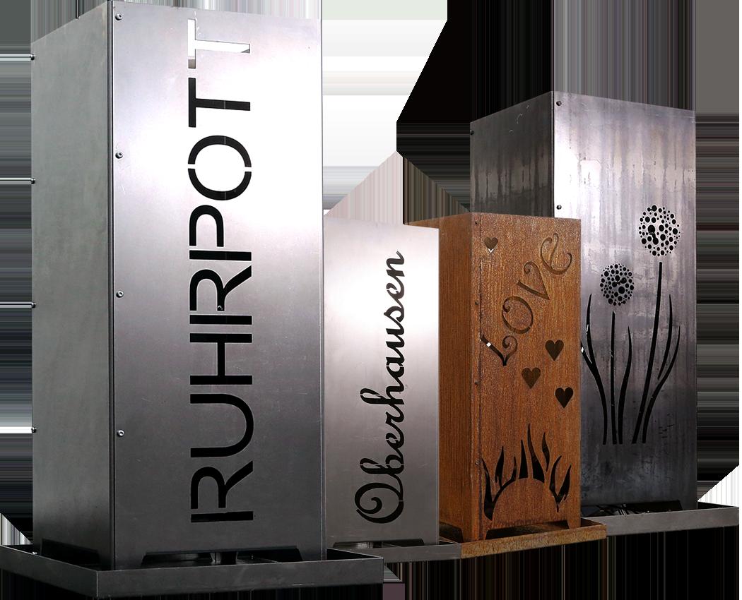 Individuelle Feuersäulen fertigt Made Of Steel - Metalldesign by Viefhaus für Sie. Lassen Sie sich inspirieren und Ihre Wunschfeuersäule fertigen!