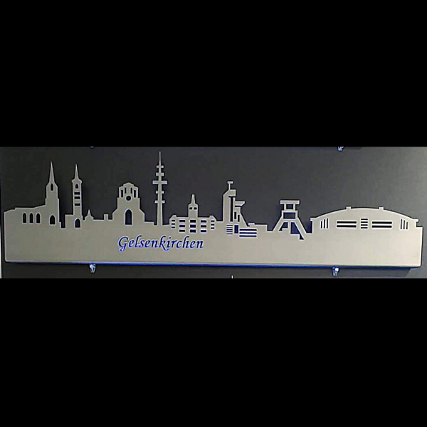 Skyline Gelsenkirchen aus Metall Wanddekoration