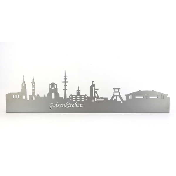 Gelsenkirchen Silhouette aus Metall