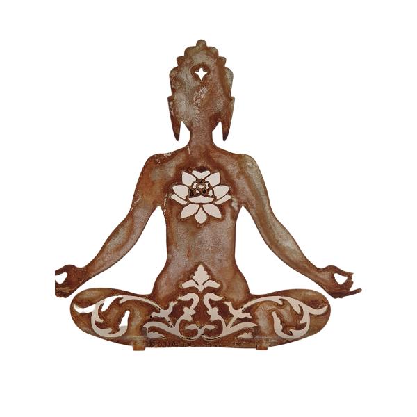 Tara Figur aus Metall in Rostoptik