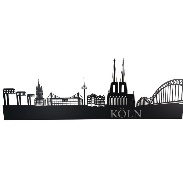 Köln Skyline aus Metall in Schwarz