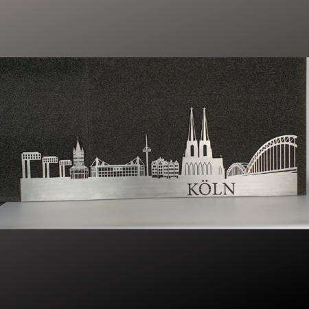 Skyline Köln aus Metall zum aufhängen