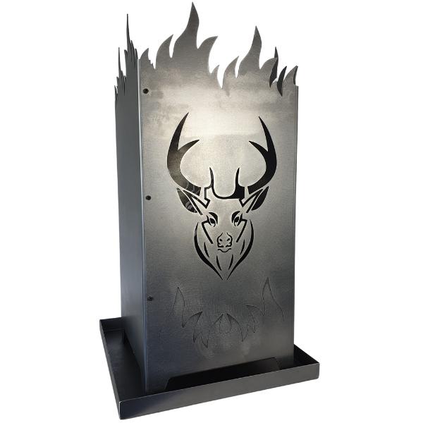 Feuersäule Hirsch aus Metall
