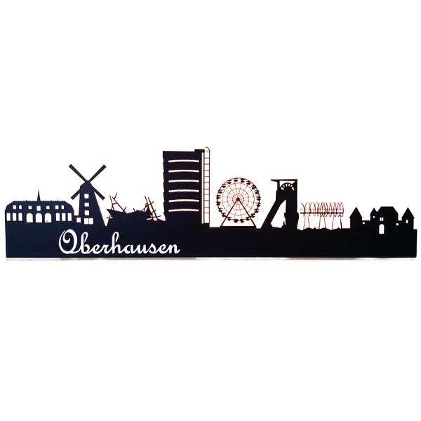 Skyline Oberhausen aus Metall in schwarz 1000 mm lang